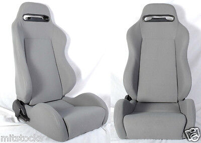 New 2 Gray Cloth Racing Seats Reclinable All Chevrolet *****