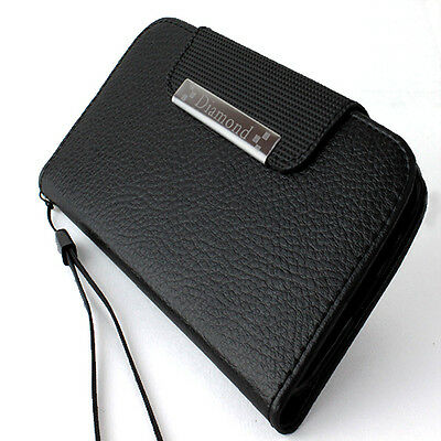 For Samsung Galaxy Note 3 Black Flip Wallet PU Leather Case Pouch+Charger+Screen