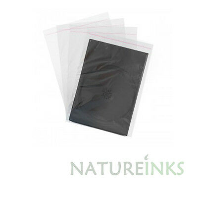 200 x Neo DVD wrapping sleeves for 14mm case wraps cover - Resealable Flap
