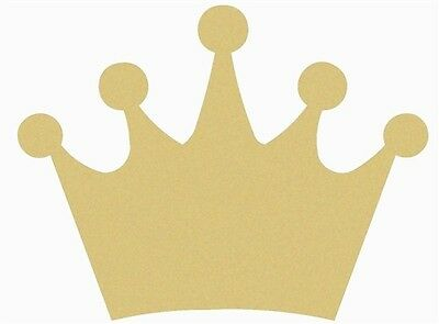 Crown Style 1 Unfinished MDF Wood Cutout Variety Sizes USA Made Home Decor