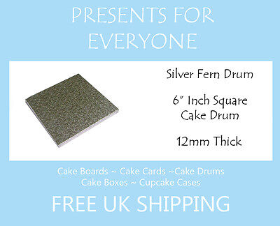 """Variation for 6"""" Inch Square Cake Drum 12mm Thick"""