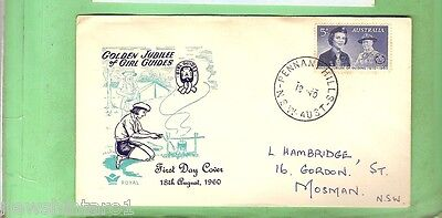#D143. 1960  Girl Guides Stamp Cover