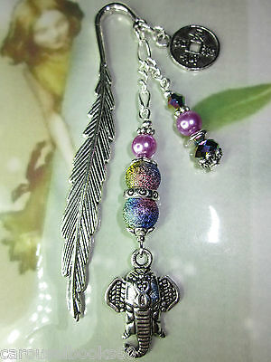 Beaded Bookmark Elephant Animals Handmade Silver Gift Idea More Designs In Store