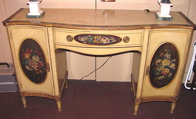 Antique English Adams Style Painted Sideboard Circa 1910