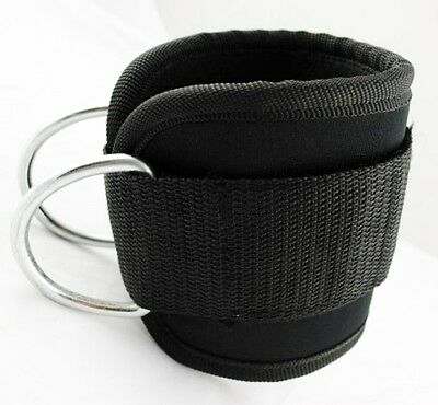 Ankle Straps Pair For Stretching For Leg Pulley For Cable Machine Neoprene Black