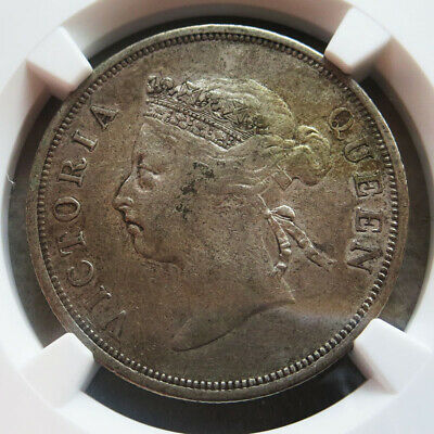 1899 Silver Straits Settlements 50 Cent Ngc Very Fine 30