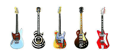 Five Famous Electric Guitars Greeting Card, DL size