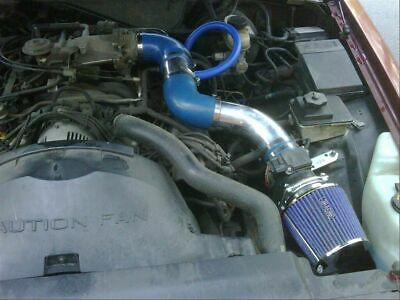 RAM AIR INTAKE KIT + BLUE DRY FILTER FOR FORD 96-02 Crown Victoria 4.6L V8