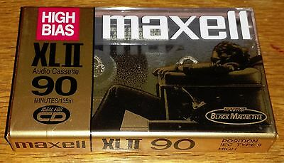 1996 Maxell XLII 90 Minute Cassette Tape SEALED NOS
