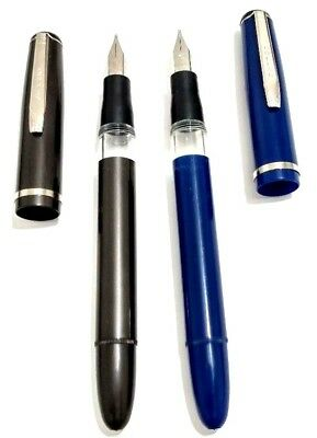 2 X Dollar 717 Beginners Fountain Pen  Black.blue
