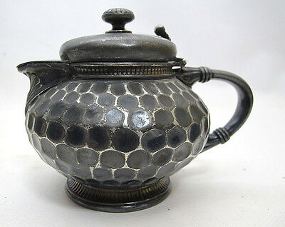 Late 1800's Antique Simpson Hall Miller Silverplate Covered Creamer Pitcher yqz