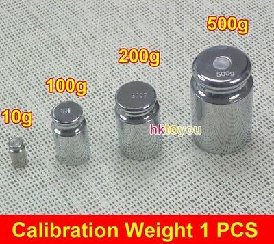 10g 100g 200g 500g Silver Calibration Weight Chrome Plating Gram For Weigh Scale