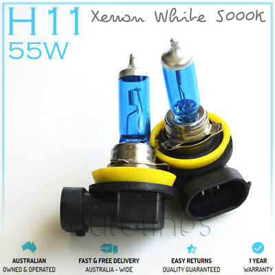 H11 12V 55W Xenon White 5000k Halogen Blue Car Head Light Lamp Globes Bulbs HID