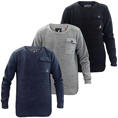 62e17472b5d Kangol New Mens Wool Mix Knitted Jumpers Pullover Sweater Winter Casual Top