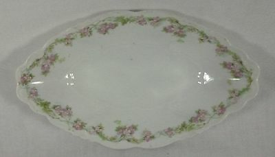 Habsburg china austria oval bowl pink roses 9 in long 5 1/4 in wide
