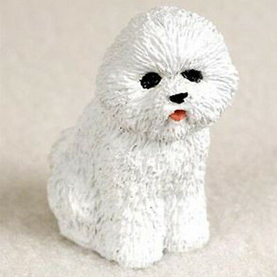 BICHON FRISE TINY ONES DOG Figurine Statue Pet Lovers Resin gift