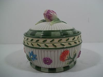 FITZ and FLOYD CLASSICS - FLORAL LIDDED BOWL/DISH - Perfect for Trinkets!