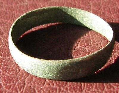 Authentic Antique to Ancient Bronze WEDDING BAND RING Sz: 4 3/4 US 15.5mm 11702