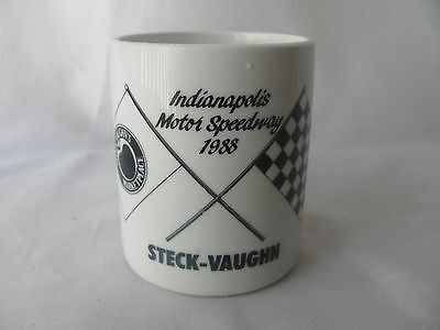 1988 Steck Vaughn IMS Indianapolis Motor Speedway Coffee Cup Mug