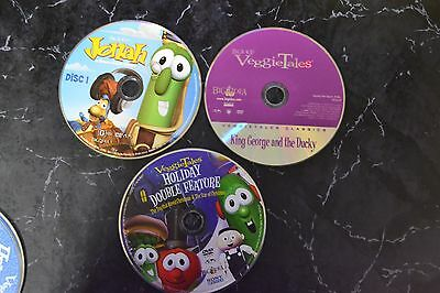 Lot of 6 Veggie tales DVD's guaranteed to play disc only S-21 #452