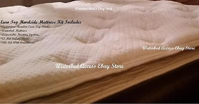 Queen 99% WAVELESS WATERBED MATTRESS with a Luxurious Bamboo Euro Top Cover