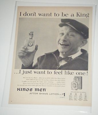 Kings Men After Shave Ad 6th Gen Vintage 1960's Life Magazine Print Ad