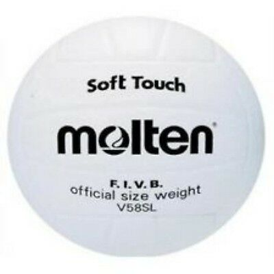 Molten Soft Touch Volleyball F.I.V.B Size 5 White V58SL Match Play Clubs/Schools
