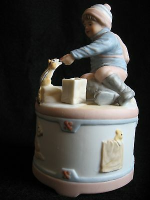 "Signed 1987 Roman Inc ""Creature of the Forest"" Children of the Month Music Box"