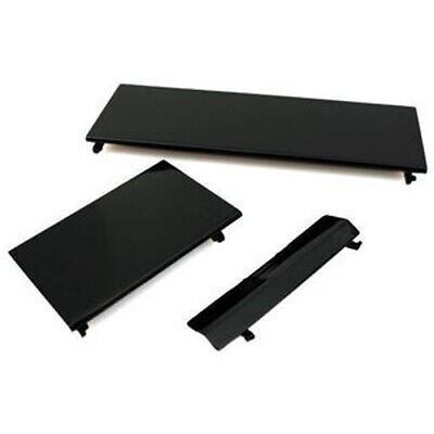 ZedLabz 3 in 1 replacement door cover flap set for Nintendo Wii console - Black