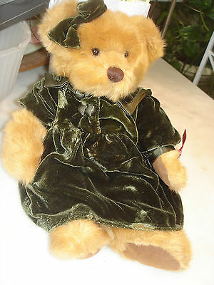 RUSS BERRIE Dressed Plush Teddy Bear Lady Larisa Vintage Collection Edition