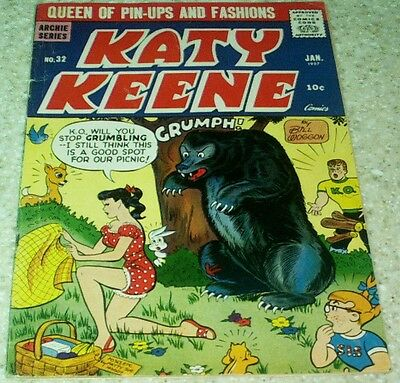 Katy Keene 32, FN- (5.5) 1957 Paper Dolls! Archie! 30% off Guide!