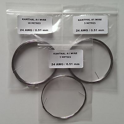 Kanthal A1 Resistance Wire - 20,22,24,26,28,30 Awg (Gauge) - 2, 5 & 10 Metres