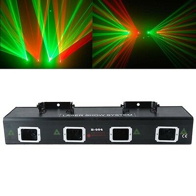 400mW Dual Red Green DMX512 4 Heads Double  DJ Laser Light Show Stage Light