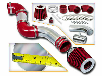 RACING AIR INTAKE KIT + RED DRY FILTER FOR FORD 96-02 Crown Victoria 4.6L V8