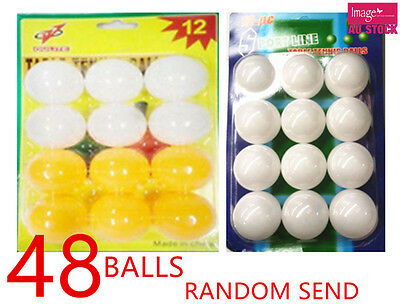 48pcs Table Tennis Balls Ping Pong Sport Mix Color Send YW/S901x4