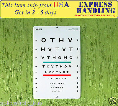HOTV Ophthometric Chart with Red/Geen Lines 10 Ft, HLS EHS
