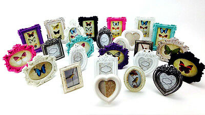 Vintage Style Picture Photo Frame Oval Rectangle New Heart Photo Frames Holder