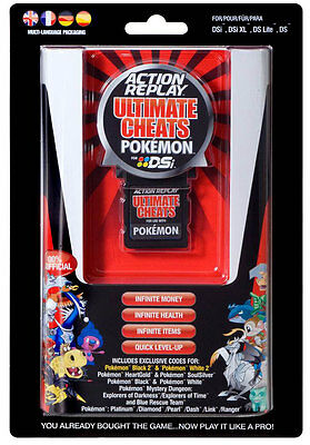 Action Replay Ultimate Cheats Cheat Device Cartridge for DSi NDS Pokemon Games