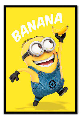 Framed Official Despicable Me Minions Banana Poster