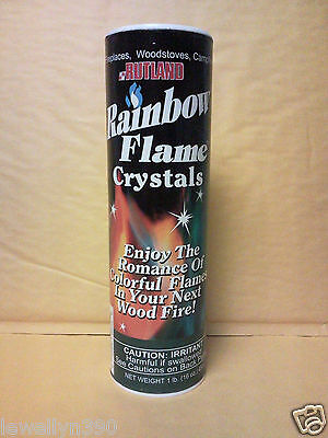 RUTLAND Fire Pit & Chiminea Rainbow Flame Crystals  *colorful blue green flames*