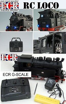 NEW G SCALE RC LOCO RADIO CONTROL LOCOMOTIVE GARDEN 45mm GAUGE RAILWAY TRAIN