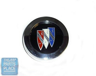 1971-87 Buick Wheel Cap & Medallion (Tri-Shield With Black Background) - Each