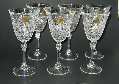 6 CHESNAY CRYSTAL WINE GLASSES FRANCE JG DURAND CRISTAL D'ARQUES 6 OZ NEW
