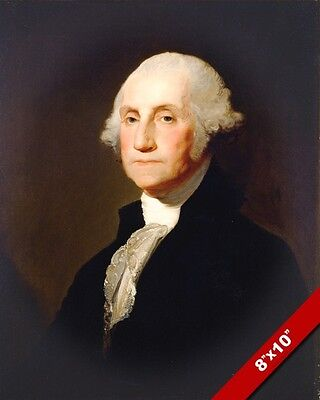 George Washington Us President History Painting Art Real Canvas Giclee Print