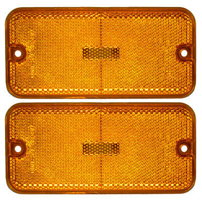 New Pair Set Front Signal Side Marker Light Lamp Housing 85-96 GMC Chevy Van