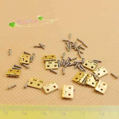 1/12 Dollhouse Miniature fitment Material metal Hinges and Screws