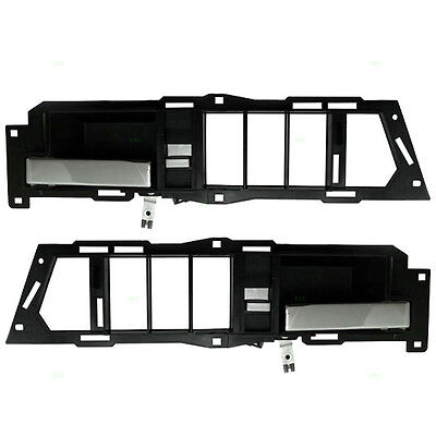 New Pair Set Inside Front Door Handle Assembly Chevy GMC Pickup Truck Suburban