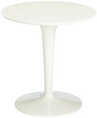 Kartell Tip Top Mono / 860003 Table d'appoint Blanc brillant Import NEUF
