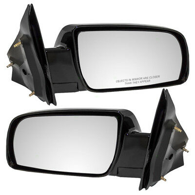New Pair Set Manual Side View Mirror Glass Housing Assembly 88-05 Chevy GMC Van