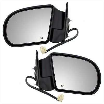 New Pair Set Power Side View Mirror Heated GMC Oldsmobile Chevy SUV Pickup Truck